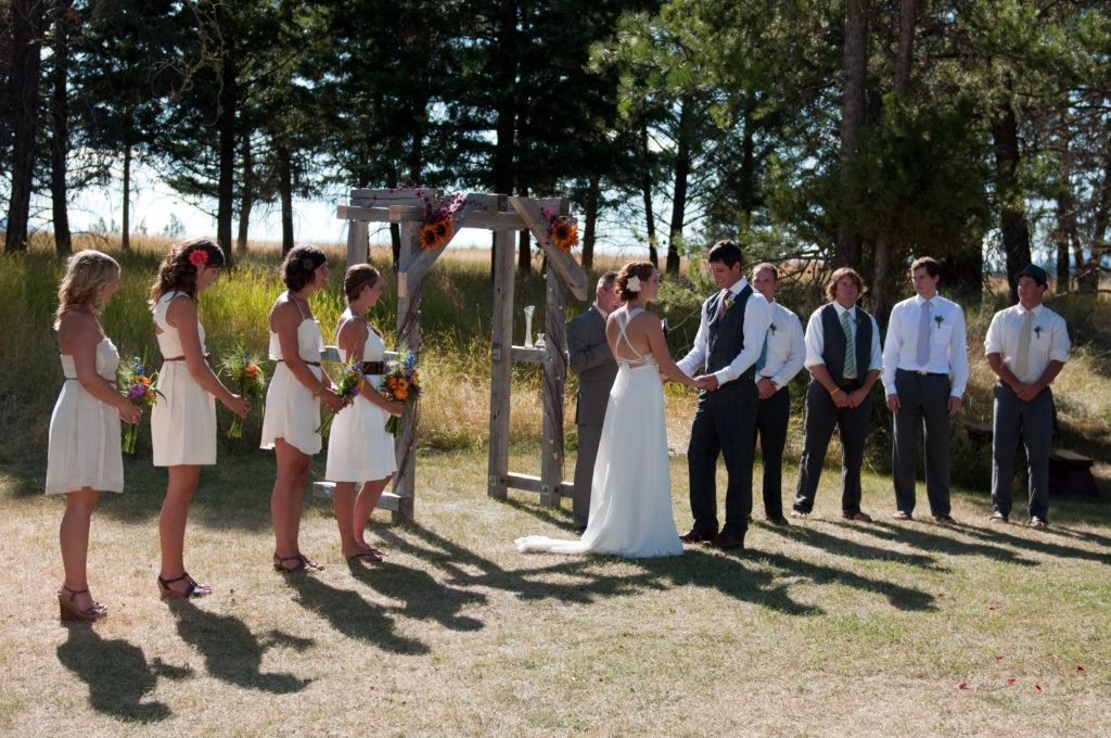Lake Koocanusa weddeing ceremony Three Strands Wedding Design