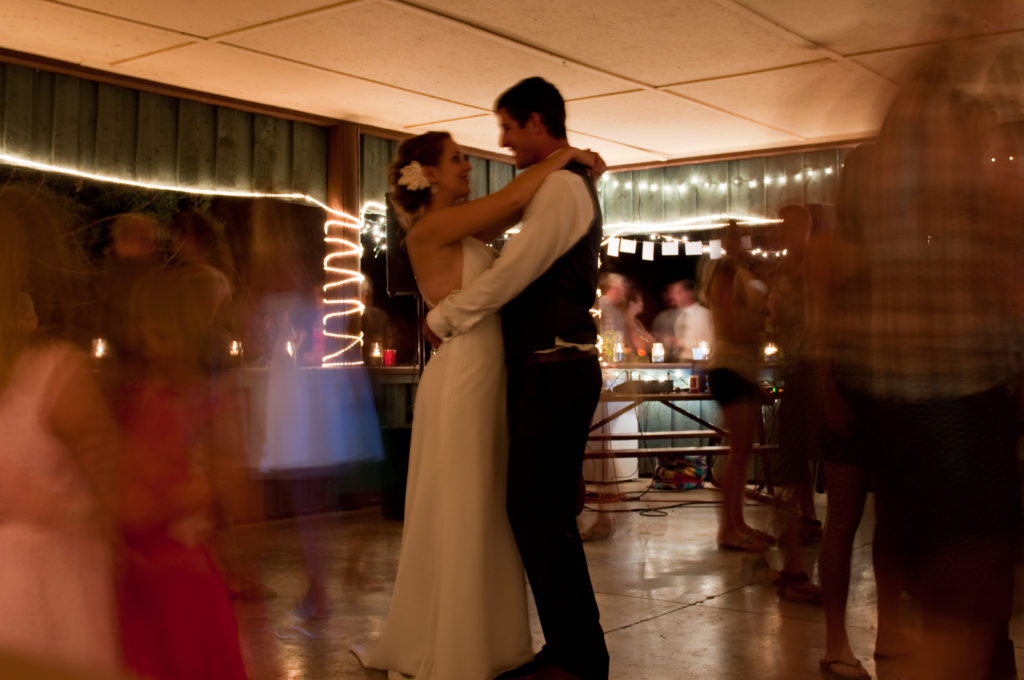 Dance at Lake Koocanusa wedding by Three Strands Wedding Design.