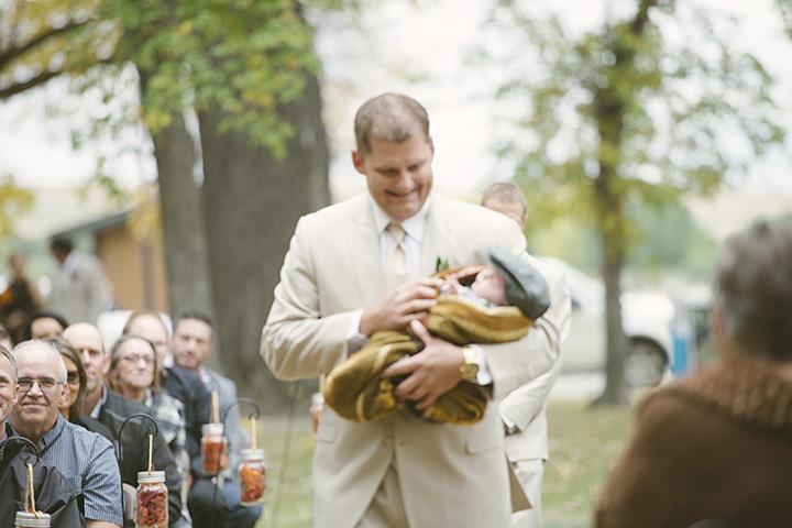 Fall wedding details.