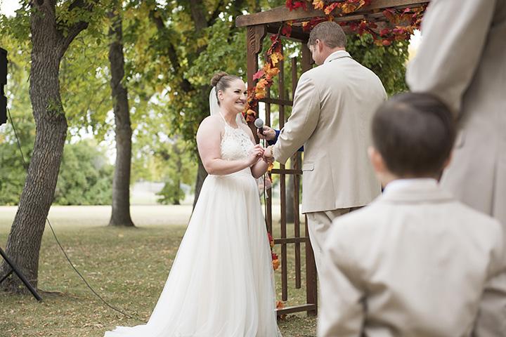 Fall wedding arch.