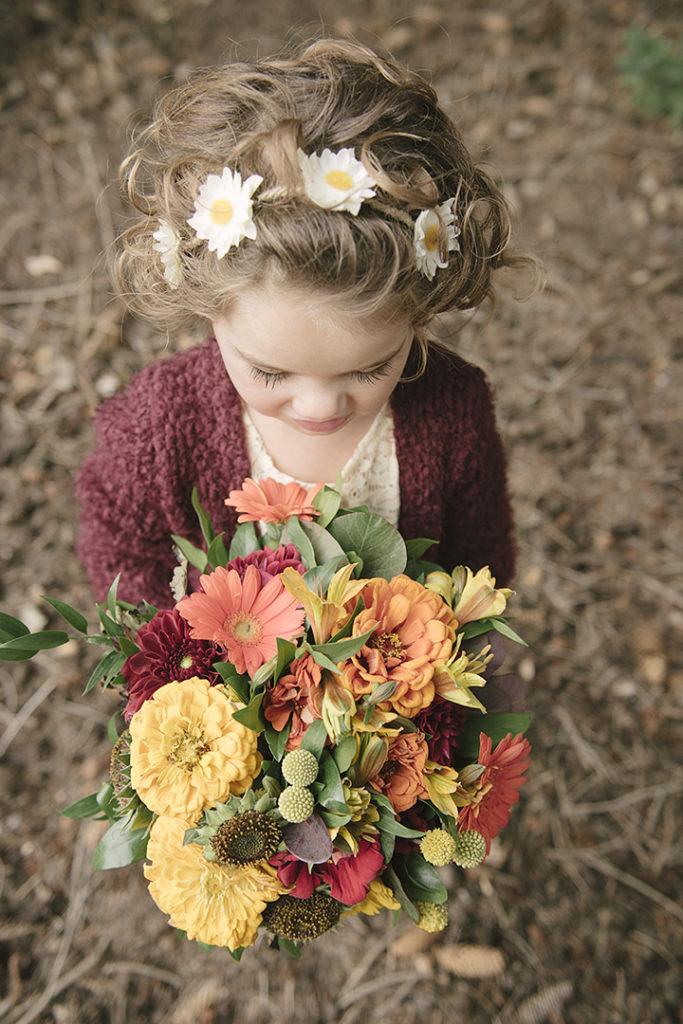 Fall wedding flowers.